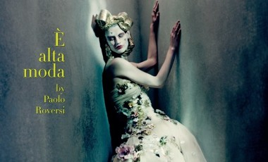 Saskia De Brauw by Paolo Roversi Vogue Italia Couture Supplement Issue 12