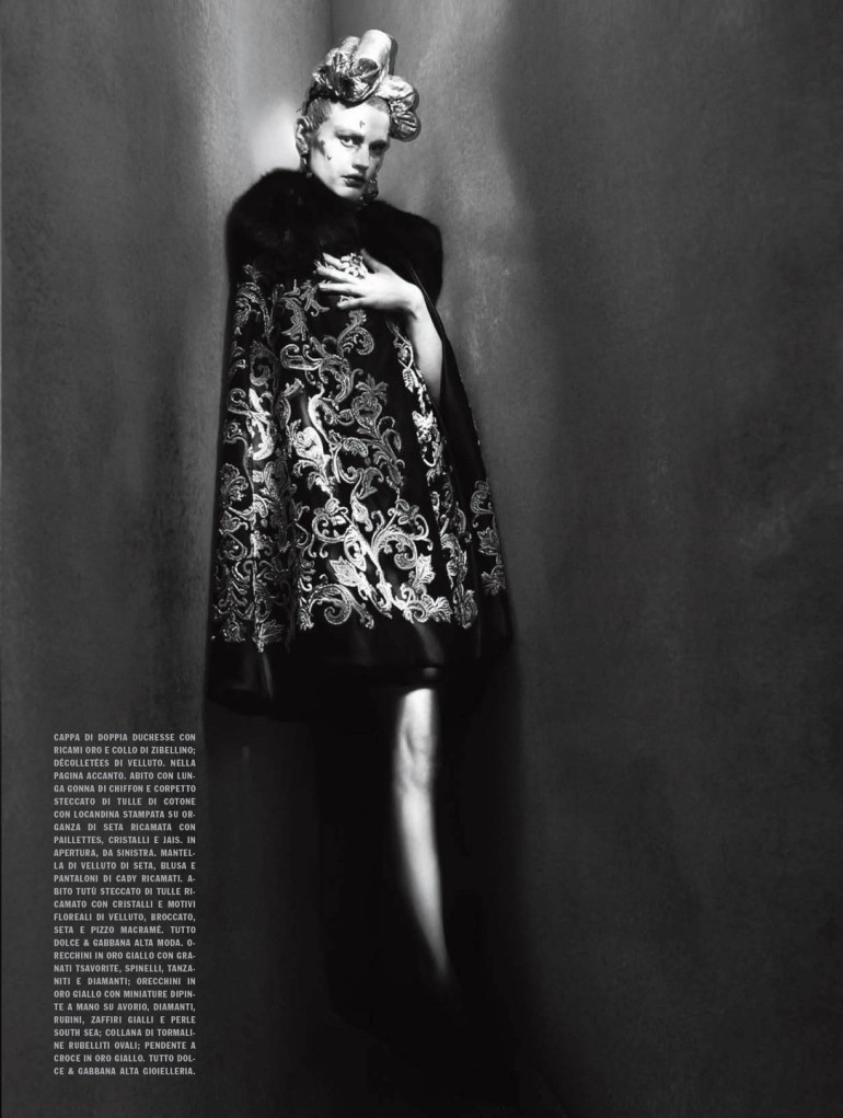 Saskia De Brauw by Paolo Roversi Vogue Italia Couture Supplement Issue 15