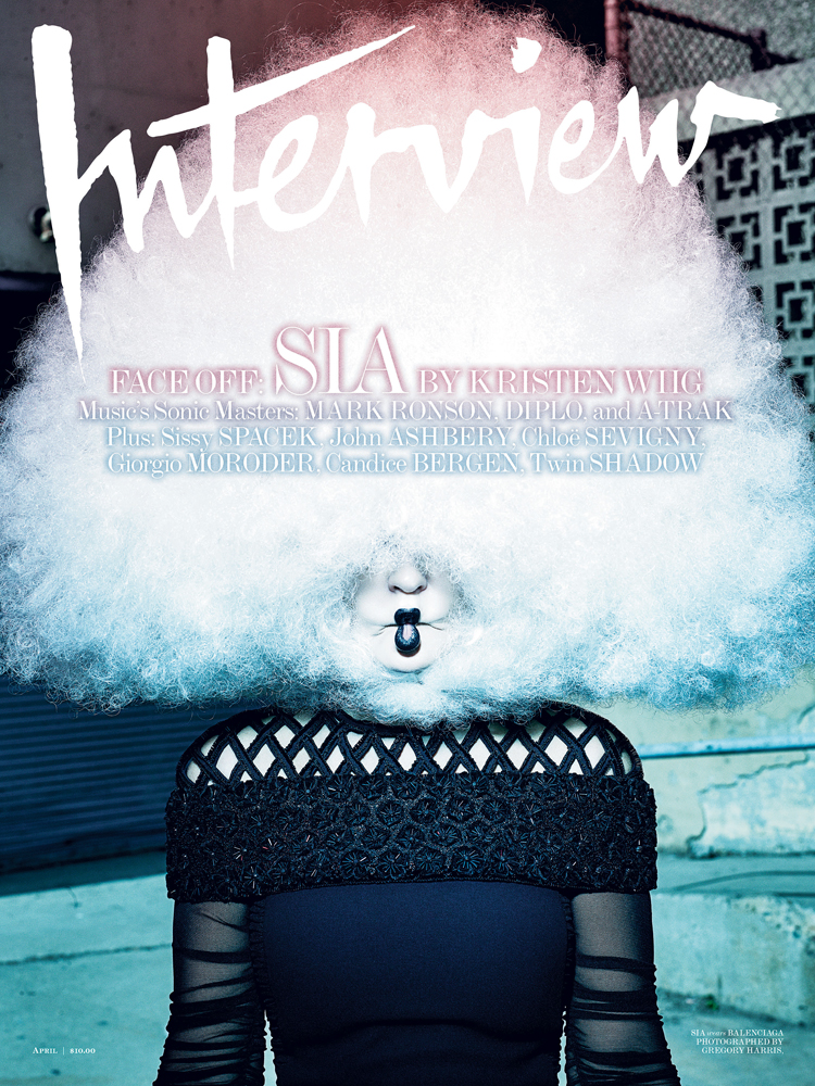 Sia by Gregory Harris for Interview April 2015
