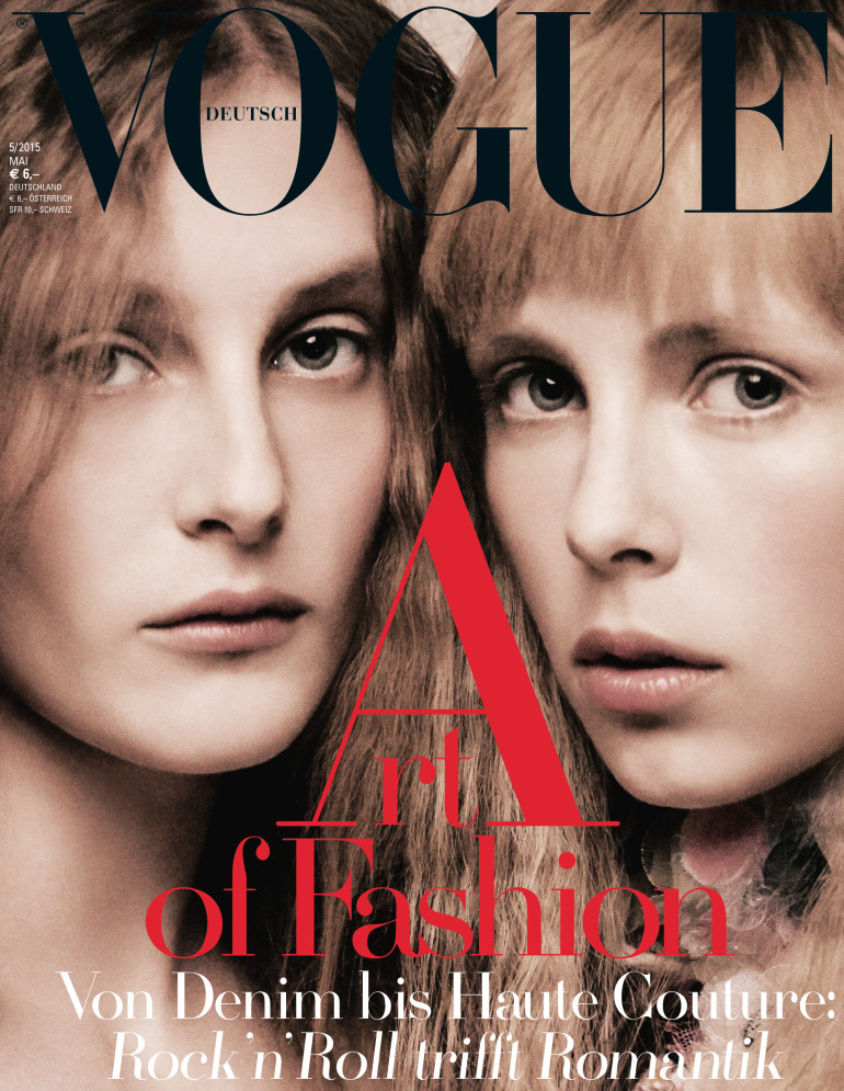 Edie Campbell & Olympia Campbell by Karl Lagerfeld for Vogue Germany 16