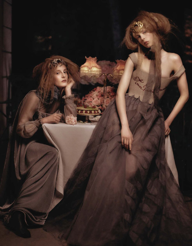 Edie Campbell & Olympia Campbell by Karl Lagerfeld for Vogue Germany 2