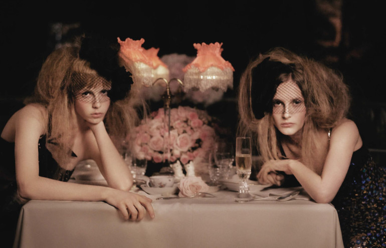 Edie Campbell & Olympia Campbell by Karl Lagerfeld for Vogue Germany