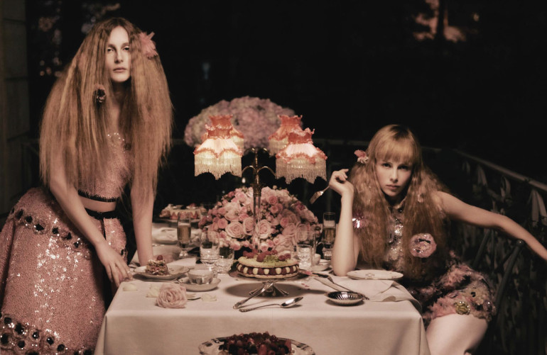 Edie Campbell & Olympia Campbell by Karl Lagerfeld for Vogue Germany 9