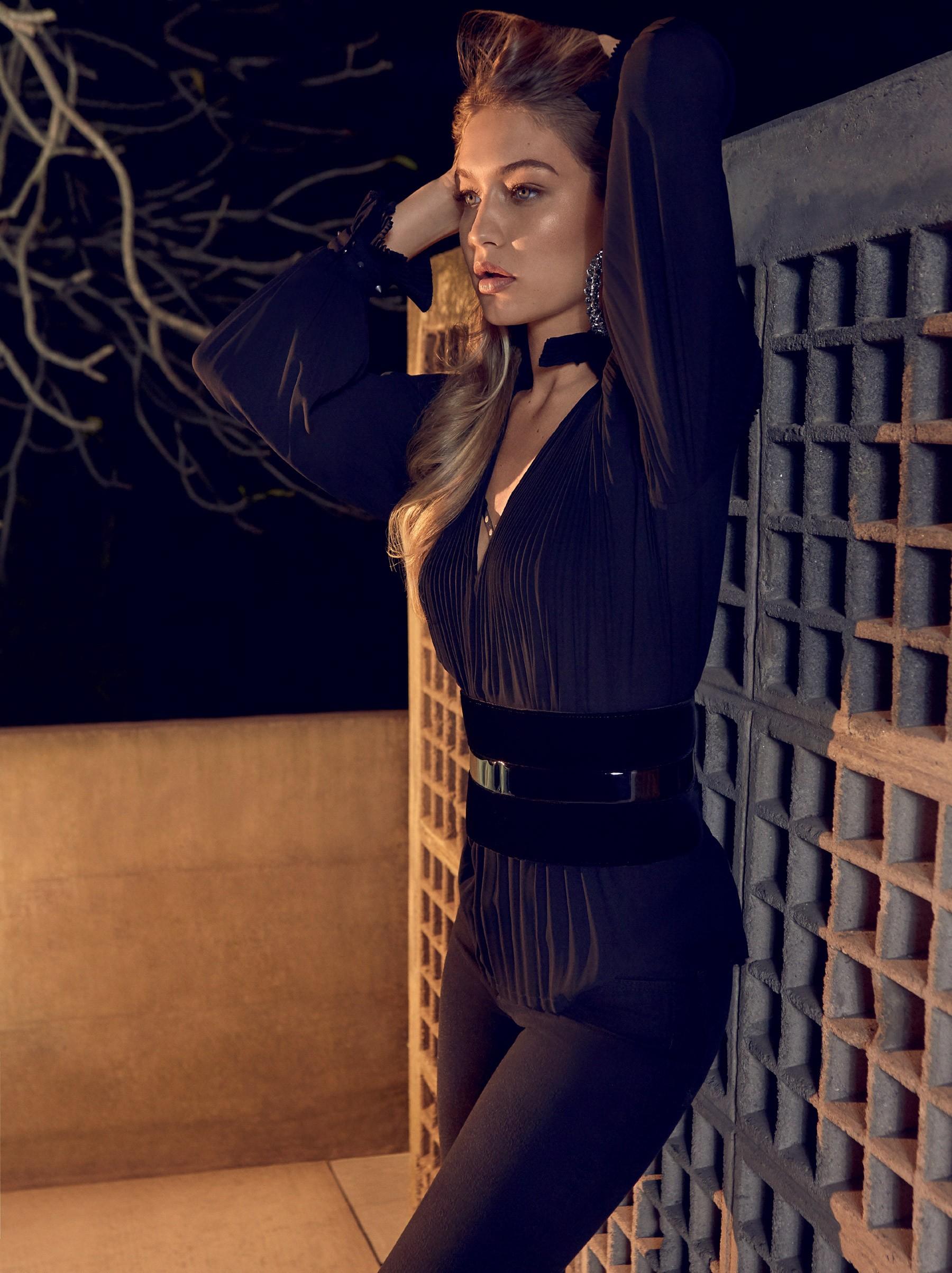 Gigi Hadid In Golden Girl By Henrique Gendre For