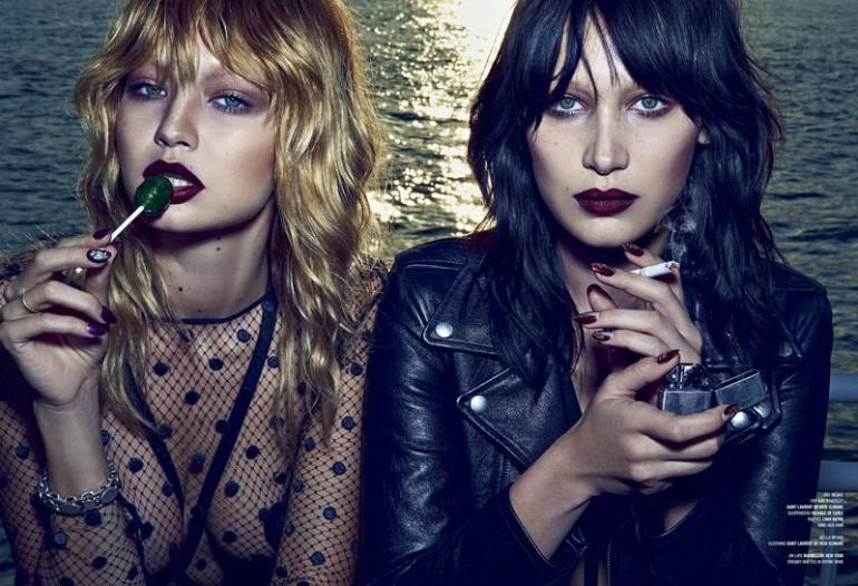 Bella & Gigi 'Double Vision' Steven Klein for V Magazine 3