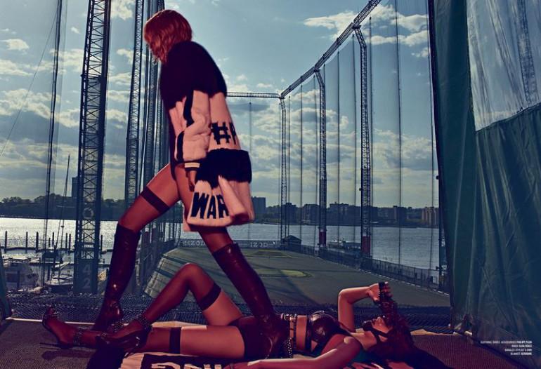 Bella & Gigi 'Double Vision' Steven Klein for V Magazine 4