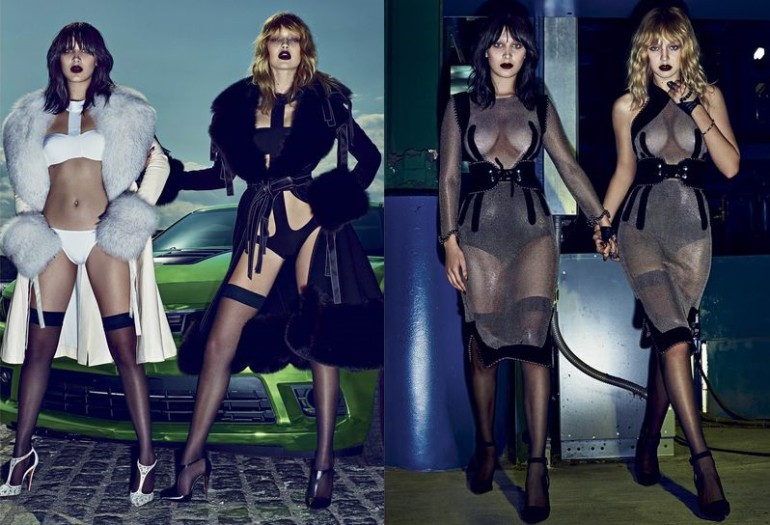 Bella & Gigi 'Double Vision' Steven Klein for V Magazine 5