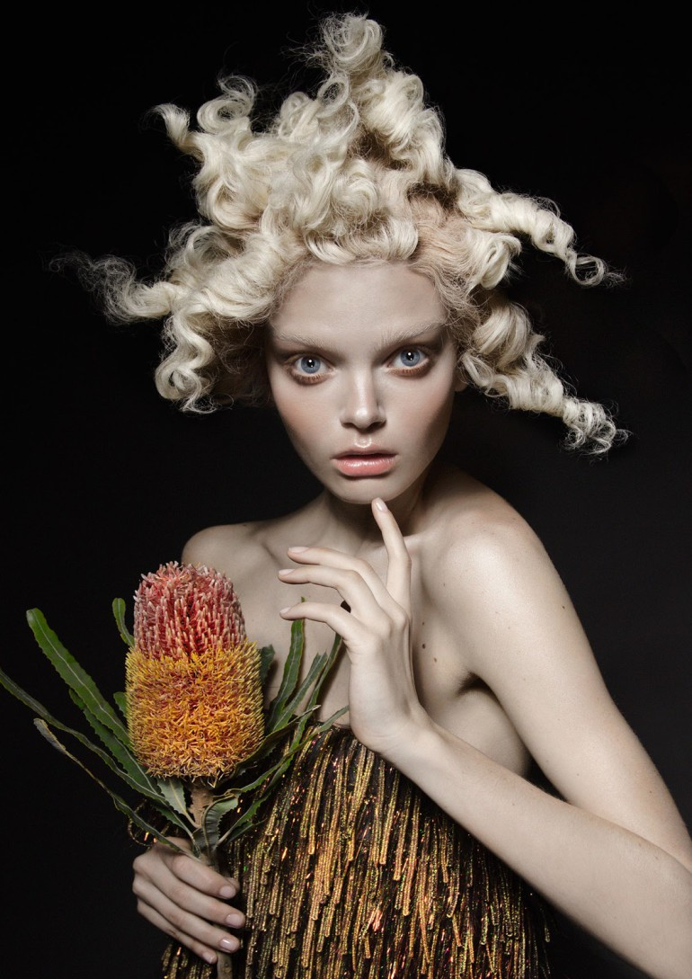 Marthe Wiggers 'The Flower' by Thom Kerr for Black Magazine 2