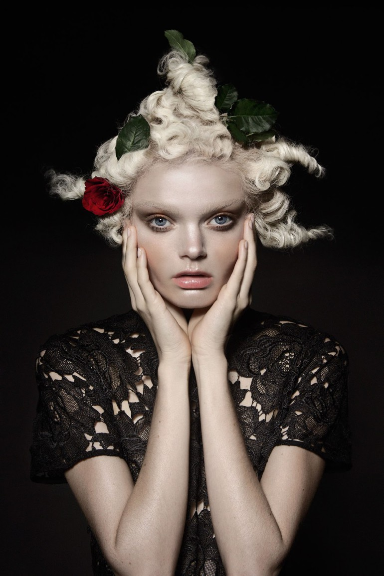 Marthe Wiggers 'The Flower' by Thom Kerr for Black Magazine 7