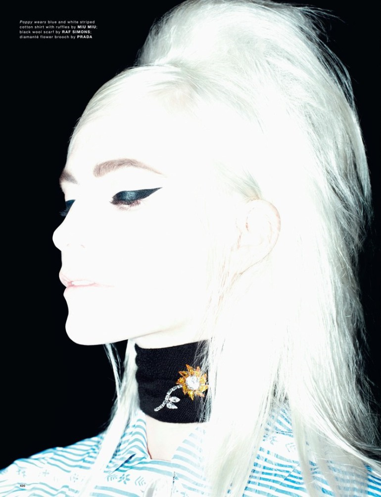 Poppy Delevigne by Willy Vanderperre for