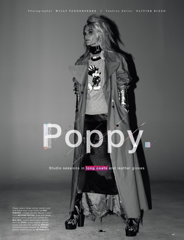 Poppy Delevingne by Willy Vanderperre for Love No.14 FW 2015 2
