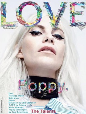 Poppy Delevingne by Willy Vanderperre for Love No.14 FW 2015 Cover