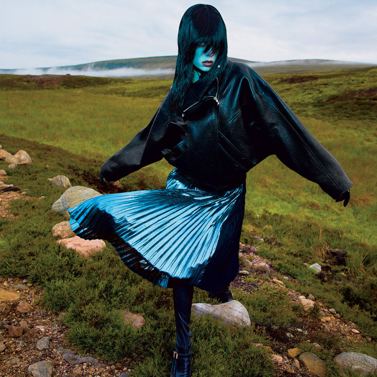 Edie Campbell by Inez & Vinoodh for T Style Women's Fall Fashion 2015 002
