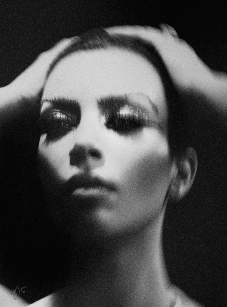 Kim Kardashian West by Ben Hassett for Violet Grey 2