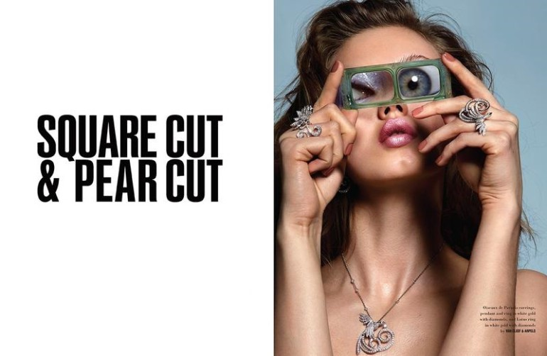 lindsey wixon 'square cut & pear cut' by donna trope for 10 magazine fW 2015