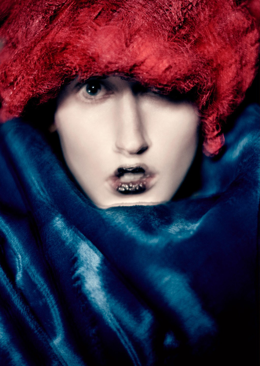 anna cleveland in �blue witches� by paolo roversi for