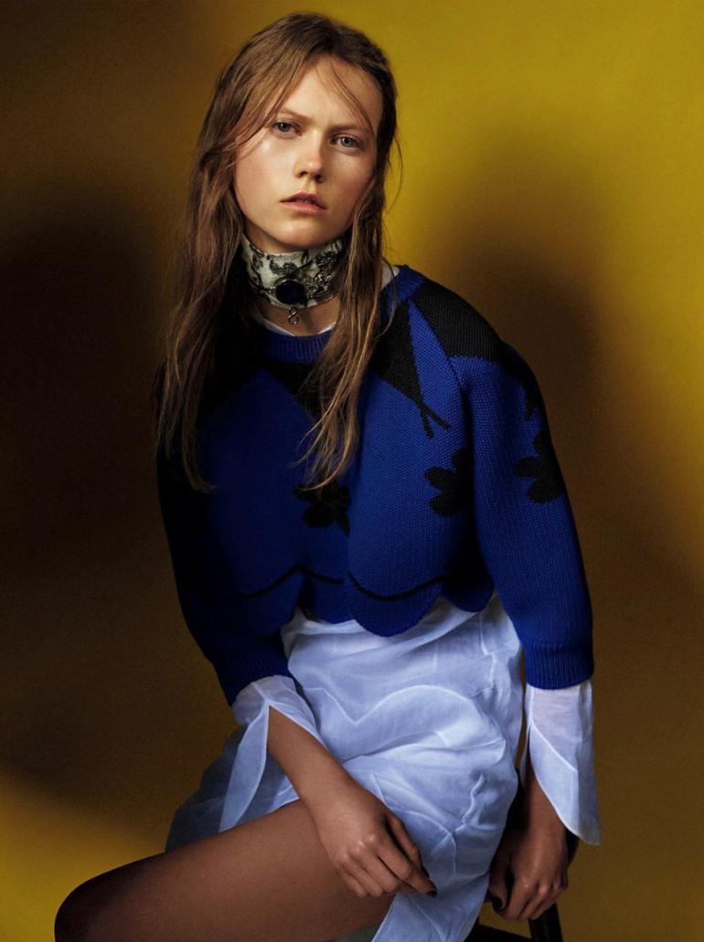 Julia Wachtel by Victor Demarchelier for Numero 2
