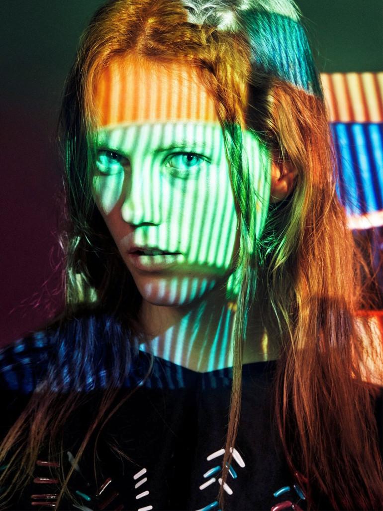Julia Wachtel by Victor Demarchelier for Numero 232