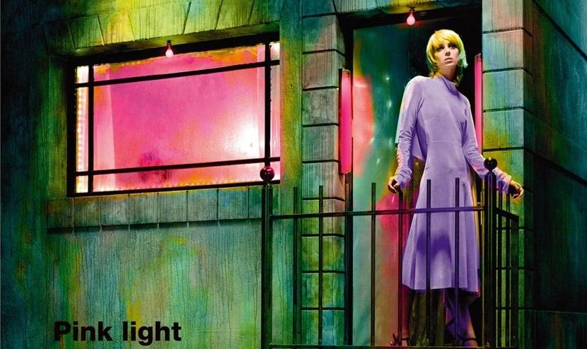 Matilda Dods In Pink Light District By Miles Aldridge