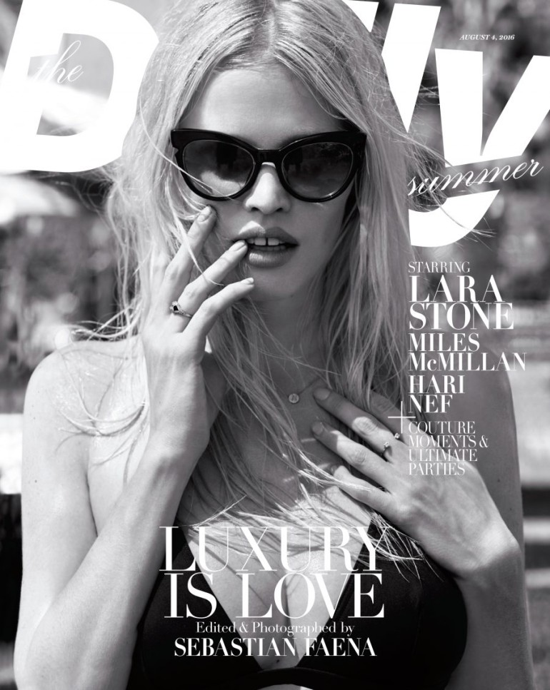 The Daily Summer Luxury Issue Staring Lara Stone