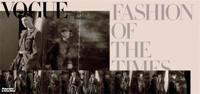 vogue italia fashion of the times steven meisel 5