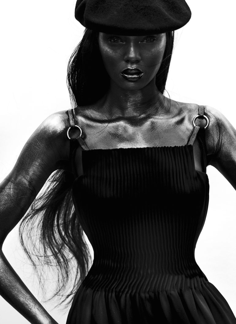 Duckie Thot, Hannah Ferguson by Mario Testino for V Magazine #109 39