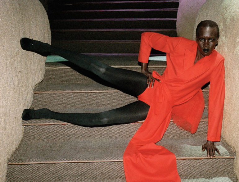 Alek Wek by Talia Chetrit for Re-Edition No.8 AW 20174